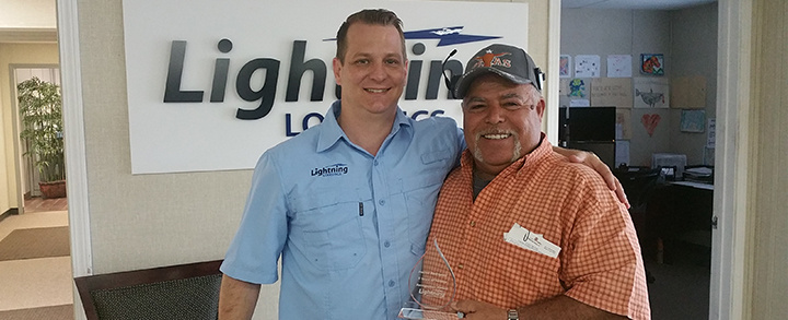 Hector Rodriguez celebrates 5 years with Lightning!