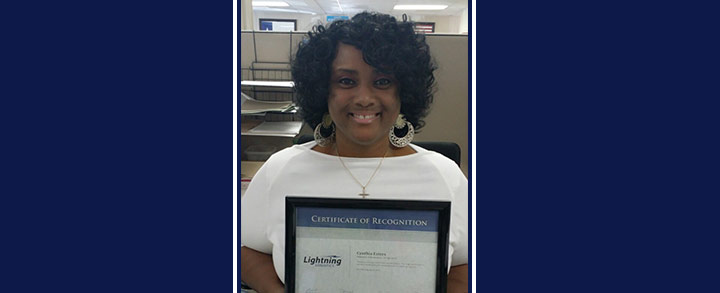 Congrats to Cynthia Esters for being recognized as the Employee of the Quarter for the 2nd Quarter of 2014.